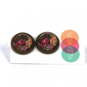 Pendientes de botón - Autumn Pattern
