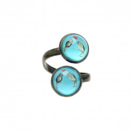 Anillo Doble - Love Birds