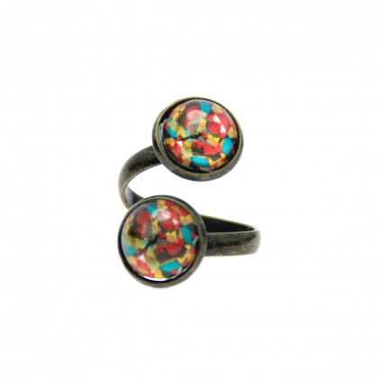 Anillo Doble - Ethnic Mariposa