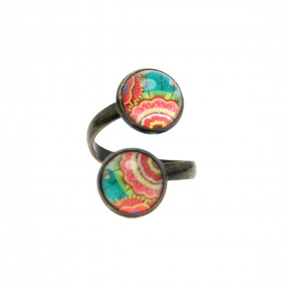 Anillo Doble - Vintage Fabric