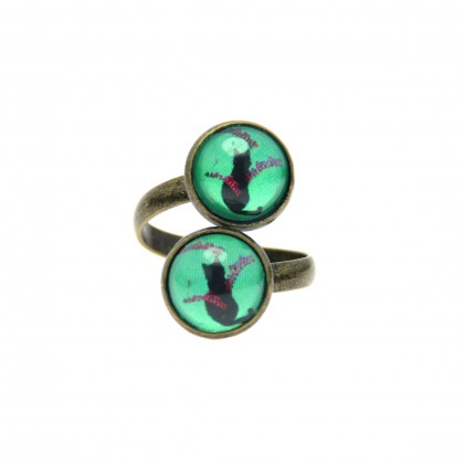 Anillo Doble - Cat