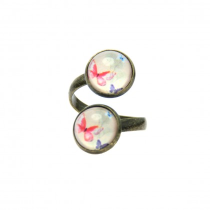 Anillo Doble - Butterflies