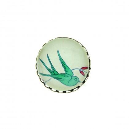Broche - Green Bird
