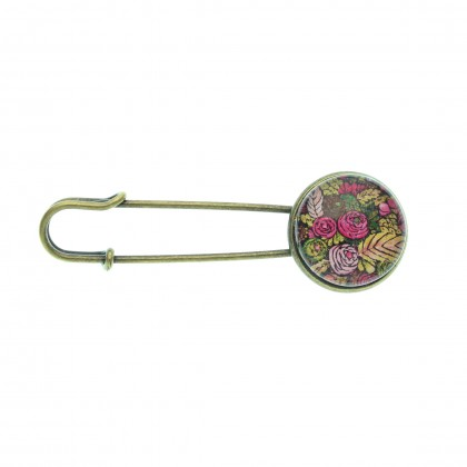 Broche imperdible - Autumn Pattern