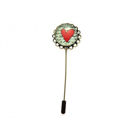 Broche de alfiler - Love Message
