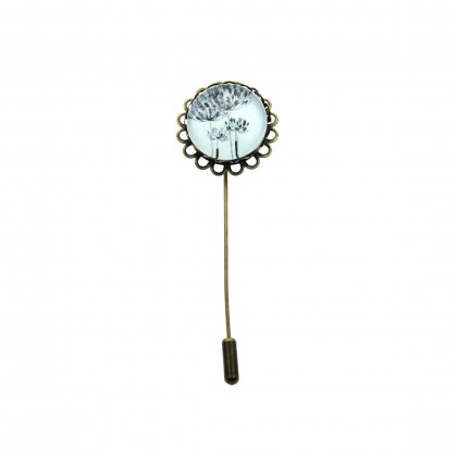 Broche de alfiler - Blowing Flower