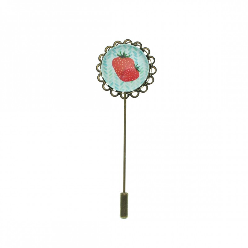 Broche de alfiler - Strawberry