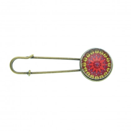 Broche imperdible - Mandala