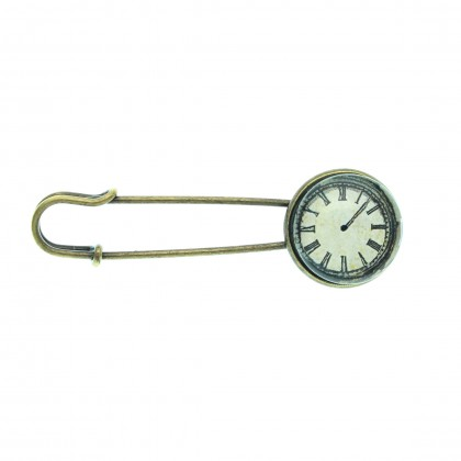 Broche imperdible - Time Flies
