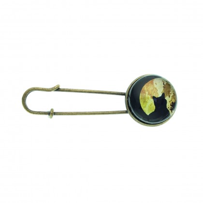 Broche imperdible - Moon Cat