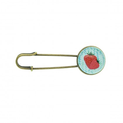 Broche imperdible - Strawberry