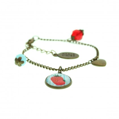 Pulsera de cadena - Strawberry