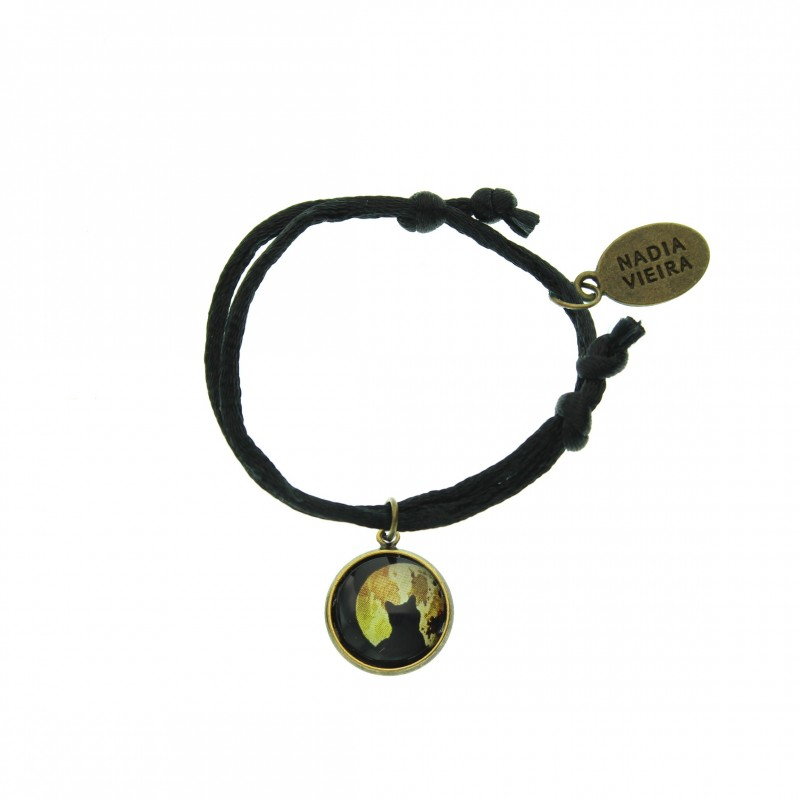 Pulsera de cordón - Moon Cat