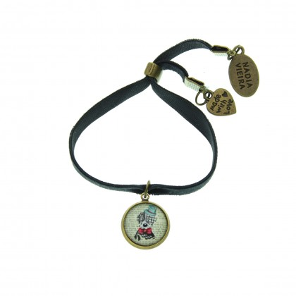 Pulsera de terciopelo - Sir Dog