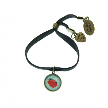 Pulsera de terciopelo - Strawberry