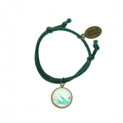 Pulsera de cordón - Green Bird