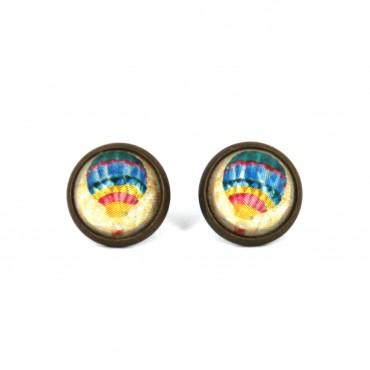 Pendientes de botón - Globo