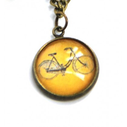 Pulsera de cadena - Bici Naranja