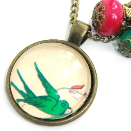 Collar Scope 25 - Green Bird
