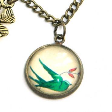 Pulsera de cadena - Green Bird