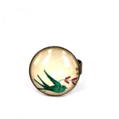 Anillo Pequeño - Green Bird