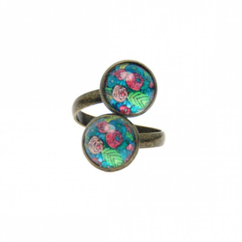 Anillo Doble - Spring Pattern