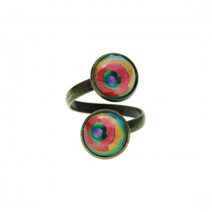 Anillo Doble - Rainbow