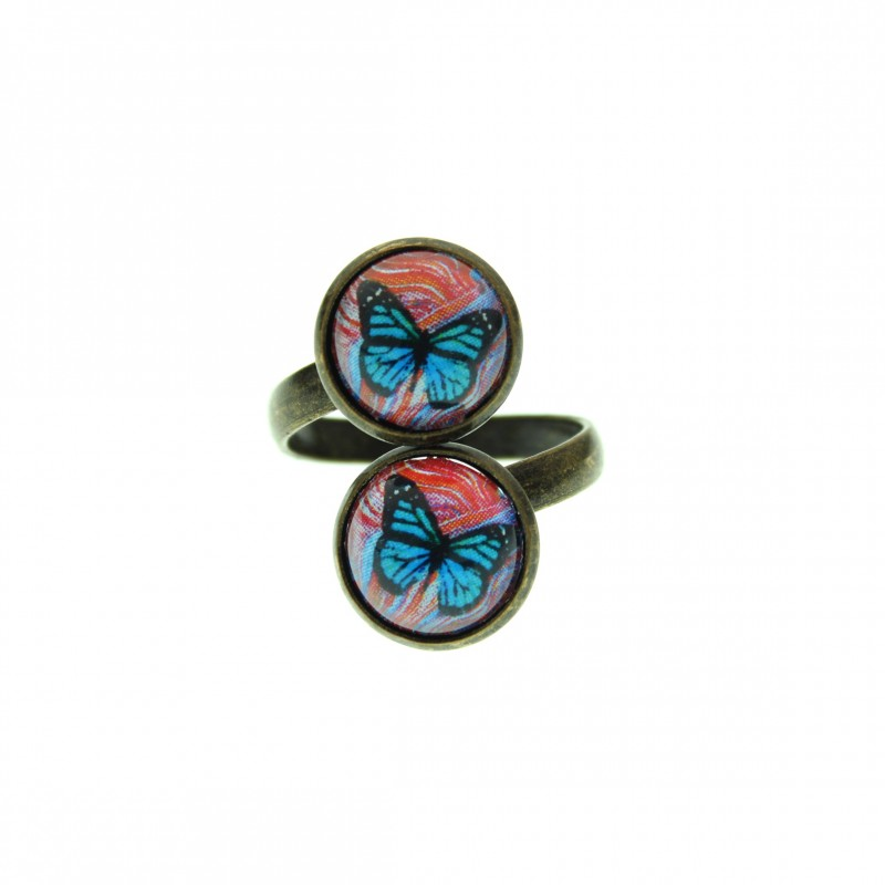 Anillo Doble - Butterfly