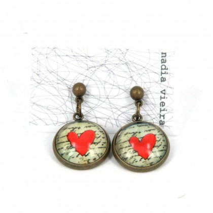Pendientes de bolita - Love Message
