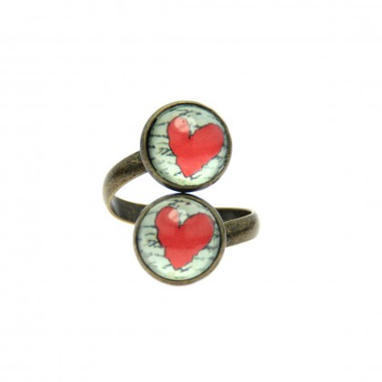 Anillo Doble - Love Message
