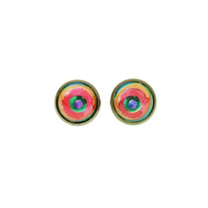 Pendiente de botón - Rainbow