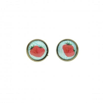 Pendiente de botón - Strawberry