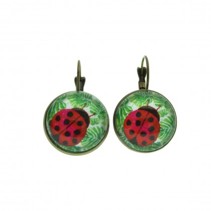 Pendientes de gancho G - Ladybug