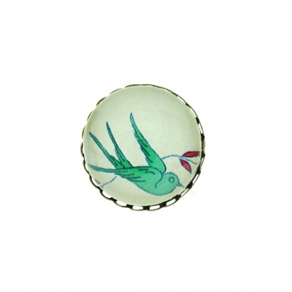 Broche - Green Bird