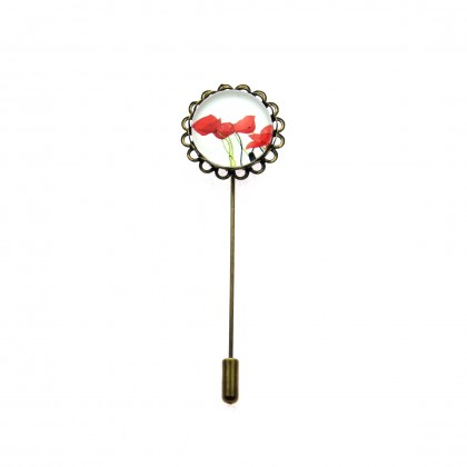 Broche de alfiler - Poppy