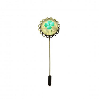 Broche de alfiler - Trebol