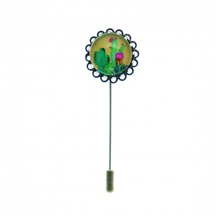 Broche de alfiler - Cactus