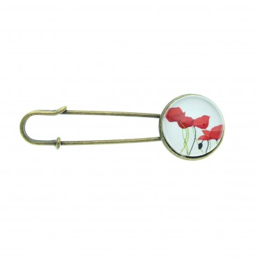 Broche imperdible - Poppy