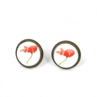 Pendientes de botón - Poppy