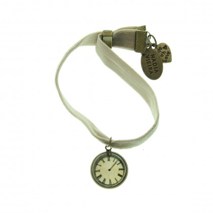 Pulsera de terciopelo - Time Flies
