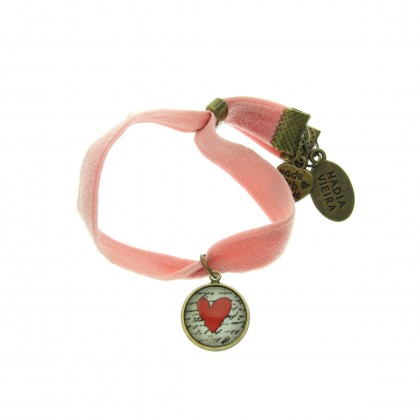 Pulsera de terciopelo - Love Message