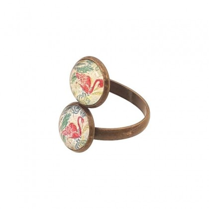 Anillo Doble - Flamingo