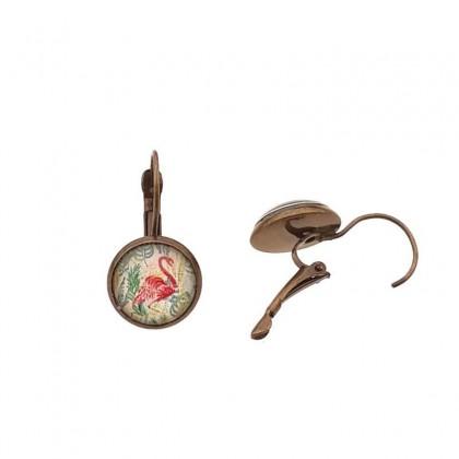 Pendientes de gancho P - Flamingo