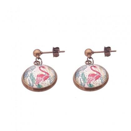 Pendientes de bolita - Flamingo