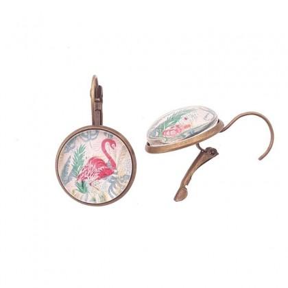 Pendientes de gancho G - Flamingo