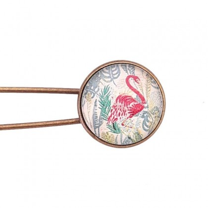 Broche imperdible - Flamingo