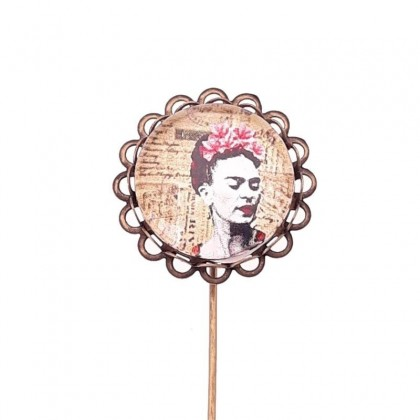 Broche de alfiler - Frida