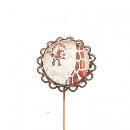 Broche de alfiler - Giraffe