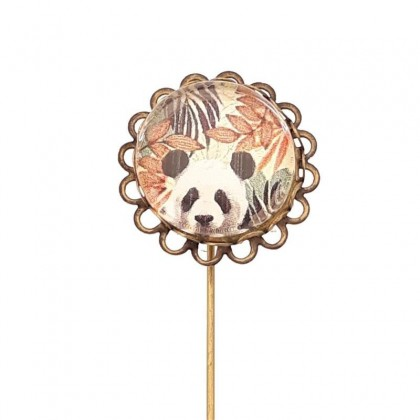 Broche de alfiler - Panda