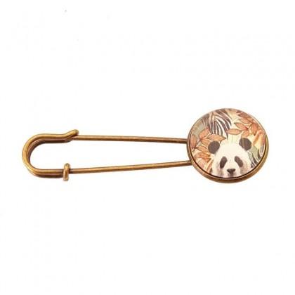 Broche imperdible - Panda